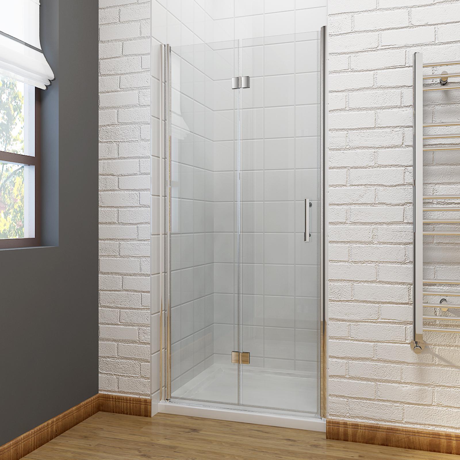 Frameless bifold shower door enclosure 6mm glass screen for 1000 bifold shower door