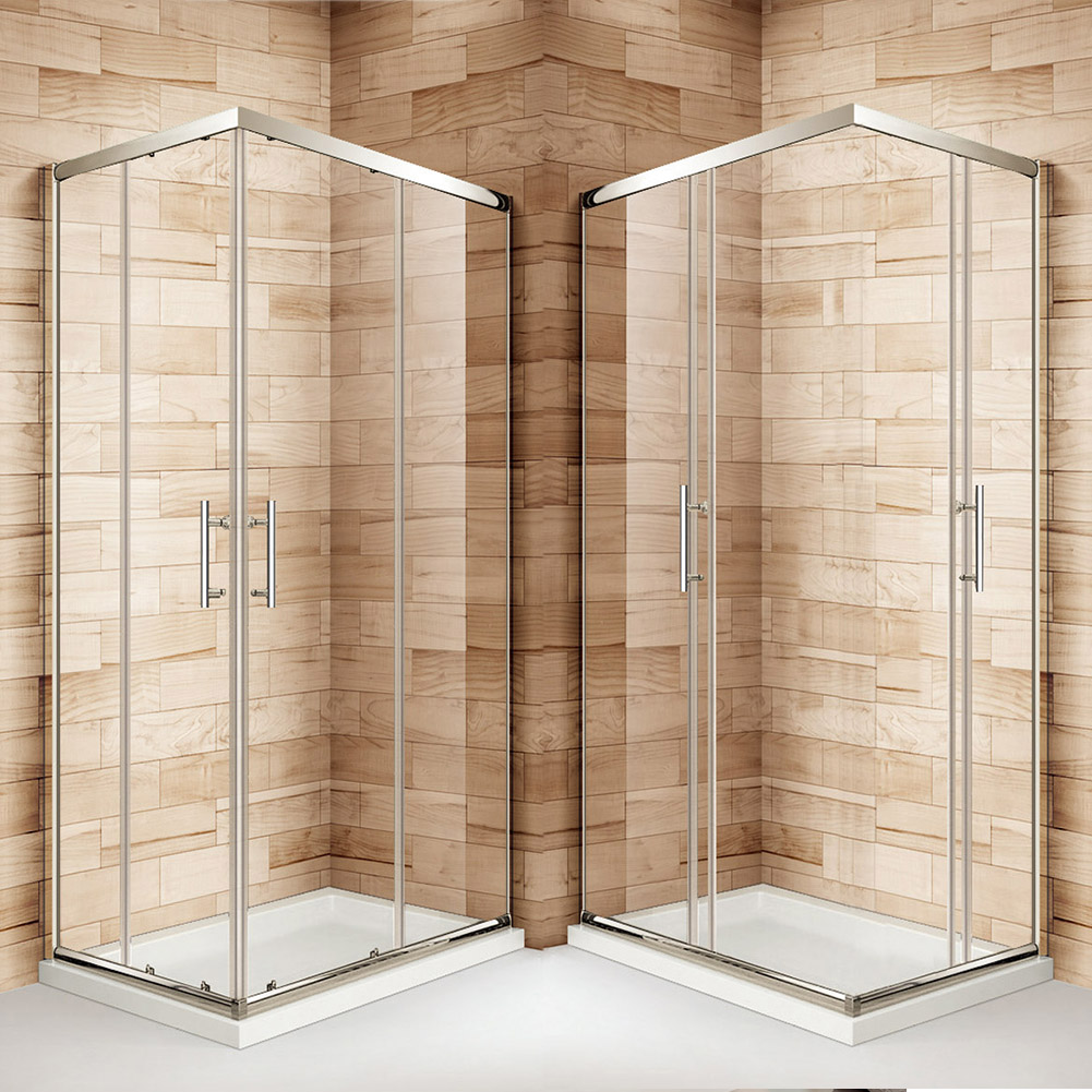 Double Single Sliding Quadrant Corner Entry Shower Door