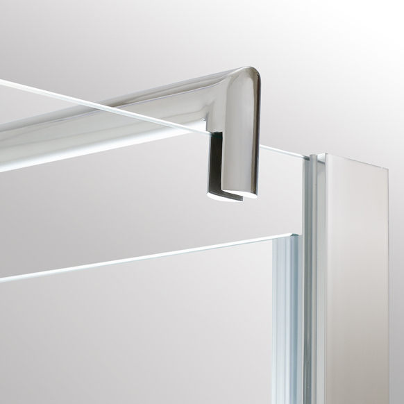 900x760mm Frameless Pivot Shower Screens Hinge Glass Doors Shower Tray Waste