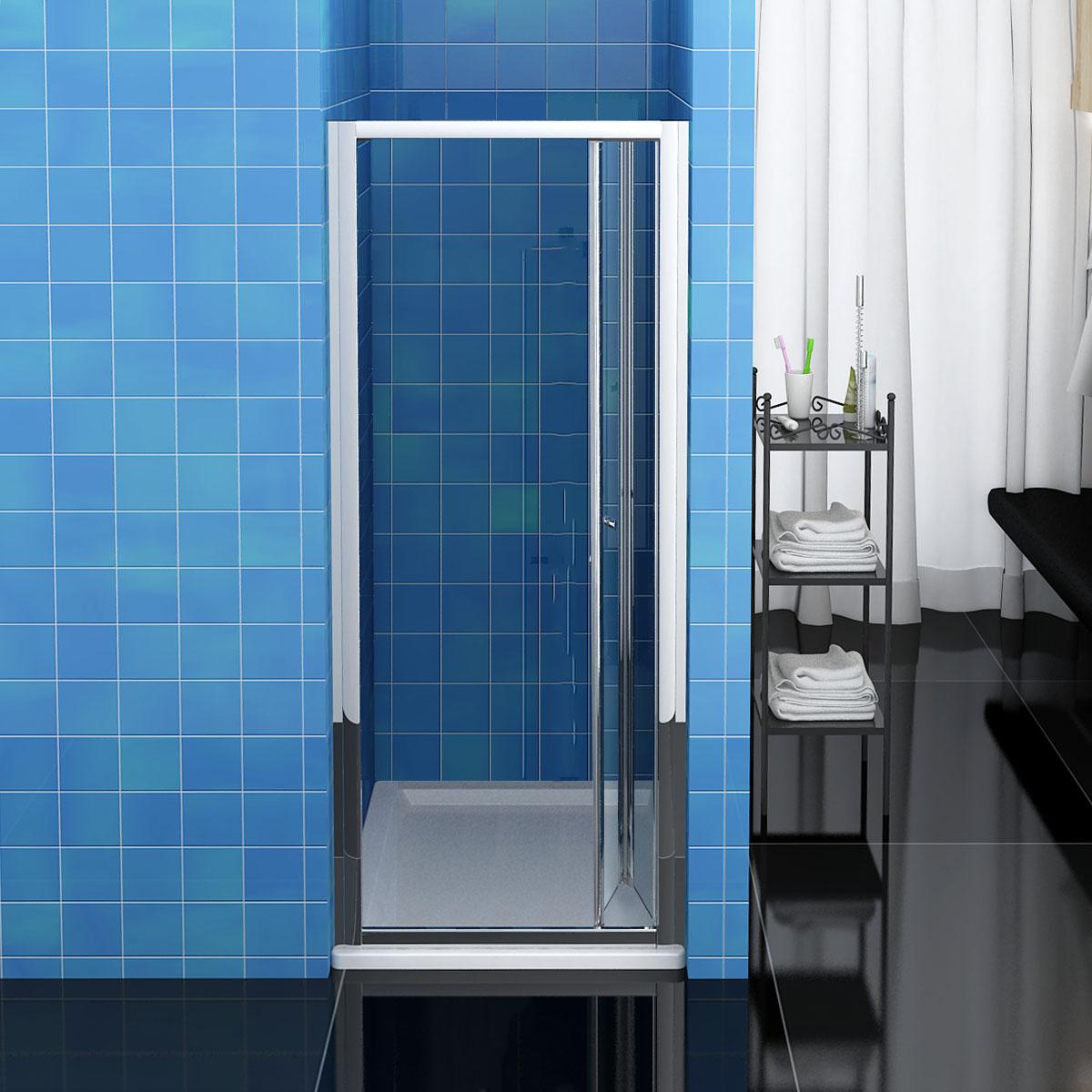 Frameless Folding Door : Bifold sliding pivot shower door enclosure frameless mm