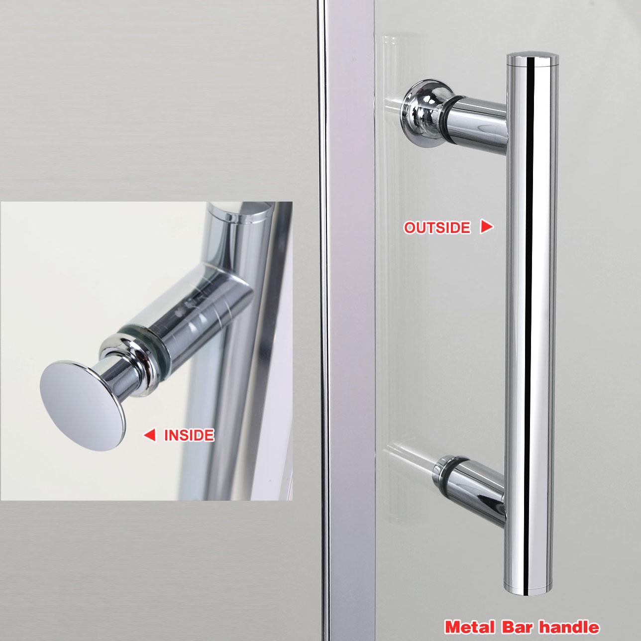 Frameless Pivot Hinge Shower Door Glass Screen Reversible Side Panel Stone Tr